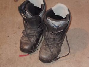 2 pairs snow board boots size 12 &13