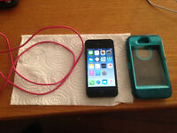 iPhone 4S,16gigs Otterbox and charger