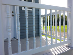 PVC Colonial Railing spindel for decks or a fence....