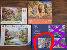 500 piece jigsaw puzzle bundle x4