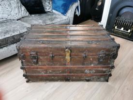 Large antique trunk 1892
