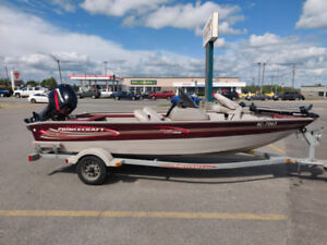 16.9ft Princecraft 162 Pro Series with 50 hp Mercury and trailer