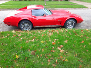 1974 Red Corvette Stingray
