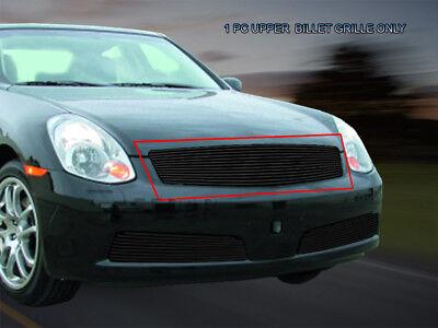 Fits 2005 2006 Infiniti G35 Sedan Black Billet Grille Upper Grill Insert Fedar