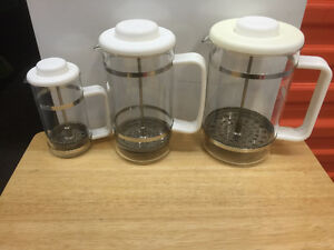 French Press Coffee Makers, all sizes