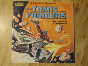 Marvel TRANSFORMERS G1 Big Looker Story Book Cybertron Vintaged