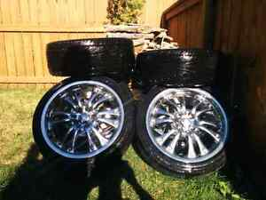 "4x100 17"" Chrome Rims"