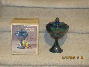 Pedestal Compote Bowl - Indiana Carnival Glass