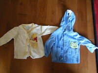 Lightweight jackets/sweaters, Carters and Pooh Bear