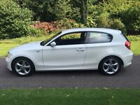 2009 59 PLATE BMW 116i SPORT 3 DR HATCH IN ALPINE WHITE