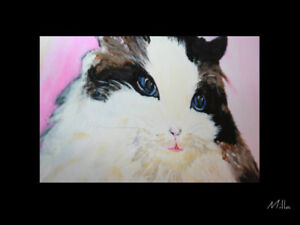 PAINTING PEINTURE TABLEAU CADRE ABSTRACT ABSTRAITE  CAT MILLA