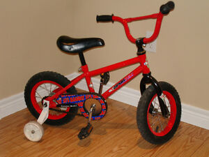 "Kids bicycle (12"" wheels) with training wheels"