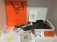Hermes belt with paperwork watches