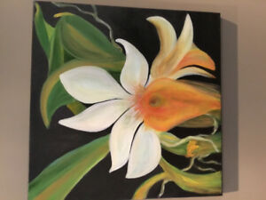 Orchid Painting Wall Art
