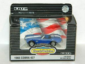 Ertl 1/43 Scale 1965 Shelby Cobra 427 Diecast Car Blue