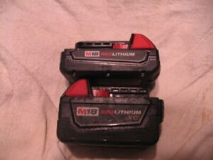 Milwaukee m18  Batteries m12 charger corded  hammer drill