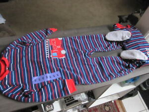 Carters Boys size 4 One-Piece Fleece Pyjamas, BNWT - $5.00