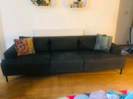 Modern gray sofa 3/4 seater