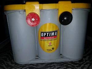 Yellow top.optima series battery750 CCA