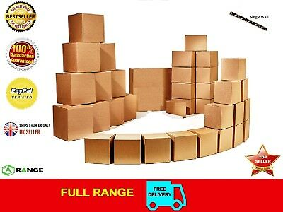 5 STRONG SINGLE WALL CARDBOARD BOXES 12