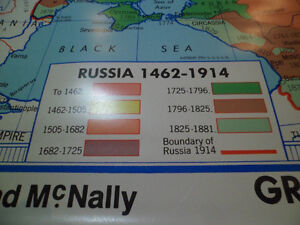 Roll Down Wall Map (the Growth of Russia) Kitchener / Waterloo Kitchener Area image 2