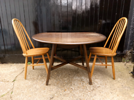 SOLD bintage Ercol round folding table - delivery available