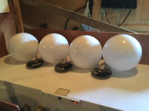 FOUR  POST LAMP TOPS FOR SALE