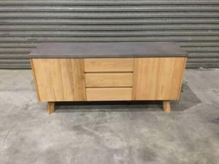 Concrete And American Oak Buffet New