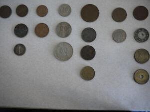 Lot of 16 world coins (Hong Kong, Australia, Japan..)RARE!