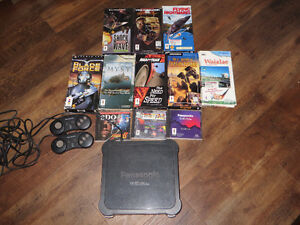 3DO Panasonic Console + 10 Games and 2 Controller (Very Rare)
