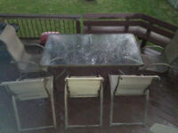 big patio table with 6 chairs