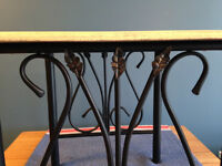 Antiqued Cafe-Style End Table