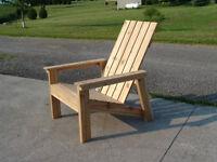 Adirondack Chairs - Beautiful Western Red Cedar, High Quality
