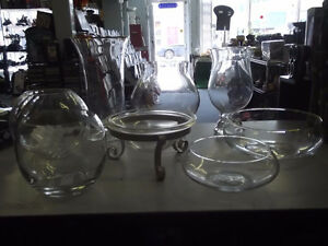ASSORTED GLASSWARE PERFECT FOR WEDDING/SHOWER CANDY BUFFET