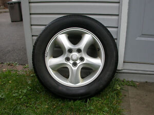 Aluminum Rims with All Season Tires, Set of 4, $100