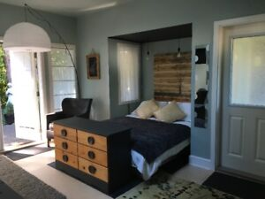 $999 Garden Patio Suite across from Tsehum Harbour in Sidney