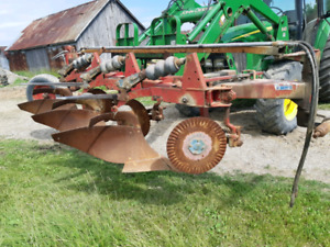 2 Triple K /  Overum 3 Furrow Semi Mount Plows