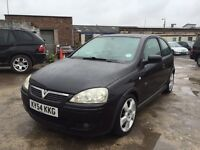 VAUXHALL CORSA SRI 1.4 2004 BLACK 113K A/C not fiesta polo mini golf yaris