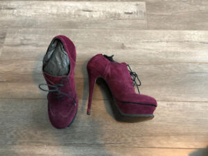 YSL Suede brogue ankle boots