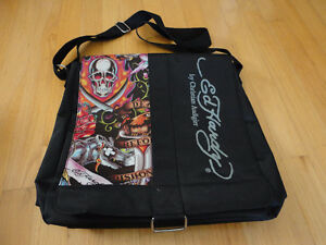 Unisex Ed Hardy graphics print messenger bag crossbody bag
