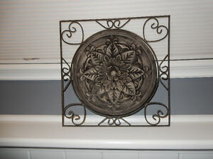 """Wrought Iron Picture. 15"""" x 15"""""""