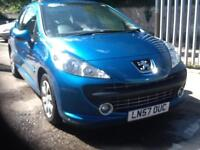Peugeot 207 1.4 m:play ELECTRIC BLUE 3 DOOR SEPT 17 MOT