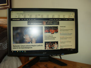 ACER  X213W WIDE SCREEN LCD MONITOR  21.6""