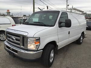 2010 FORD E-150 Cargo Van,A/C,With Roof Ladder rack & shelves