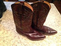 Two pairs of men's cowboy boots