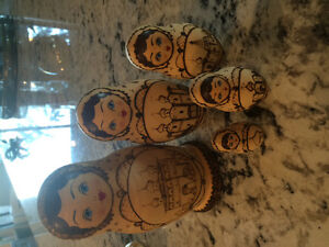 5 piece Russian nesting doll set