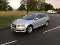 2009 09 Audi A3 2.0TDI Sportback SE 5DR Silver Outstanding Condition