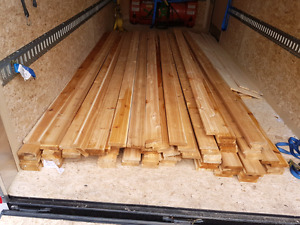 Cedar deck boards.