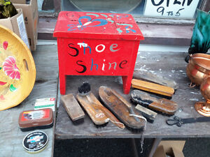 ANTIQUE SHOE SHINE  KIT   CUTE!!!!!! ONLY $25.00