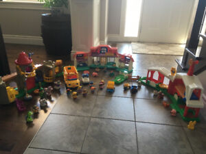 Little People- farm, castle, house, school bus and more